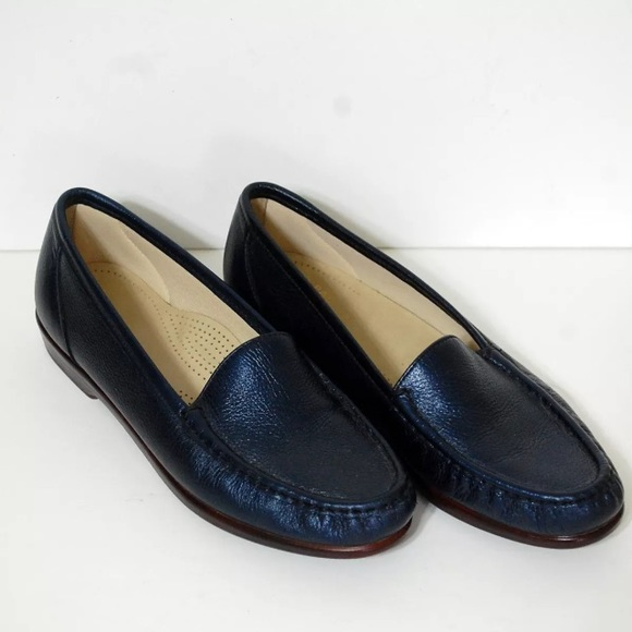 89959f3afdf SAS Navy Blue Comfort Tripad Loafers